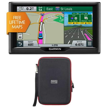 Garmin Nuvi 67Lm 6  010 01399 01 Essential Series 2015 Gps System With Lifetime Maps Pocketpro Xl Hardshell Case Bundle