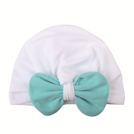 Christmas Newborn Baby Boy Girl Knotted Hat Winter Warm Bow Beanie Headwear Cap - Christmas Head Wear