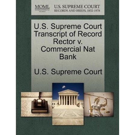 U S  Supreme Court Transcript Of Record Rector V  Commercial Nat Bank