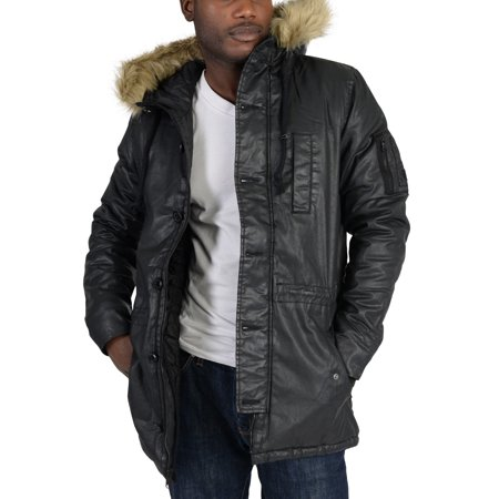 Adidas Mens NEO Padded Parka Coat Black