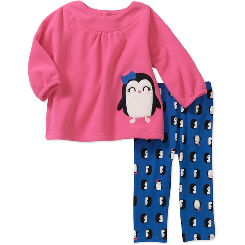 Child of Mine by Carters Newborn Girls' 2 Piece Penguin Top and  Pant Set