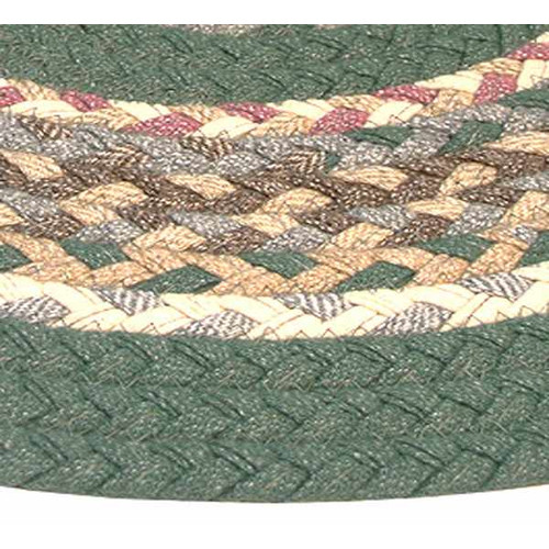 Thorndike Mills Minuteman Sage Green Solids with Mauve Accents Multi Runner Rug