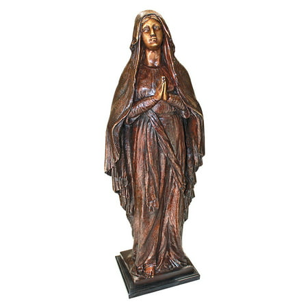 Design Toscano Madonna, Blessed Mother Cast Bronze Garden Statue Madonna Garden Statue