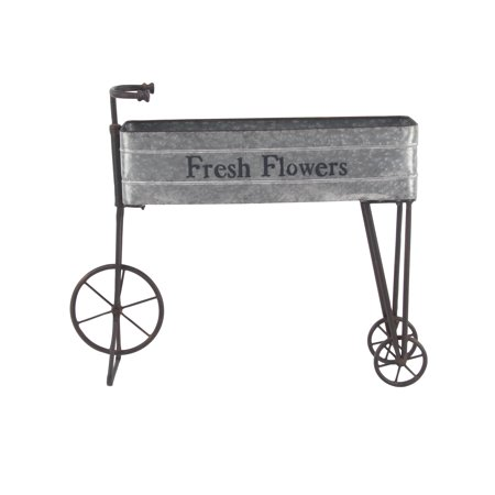 Decmode Farmhouse 34 X 42 Inch Iron And Aluminum Bicycle Planter