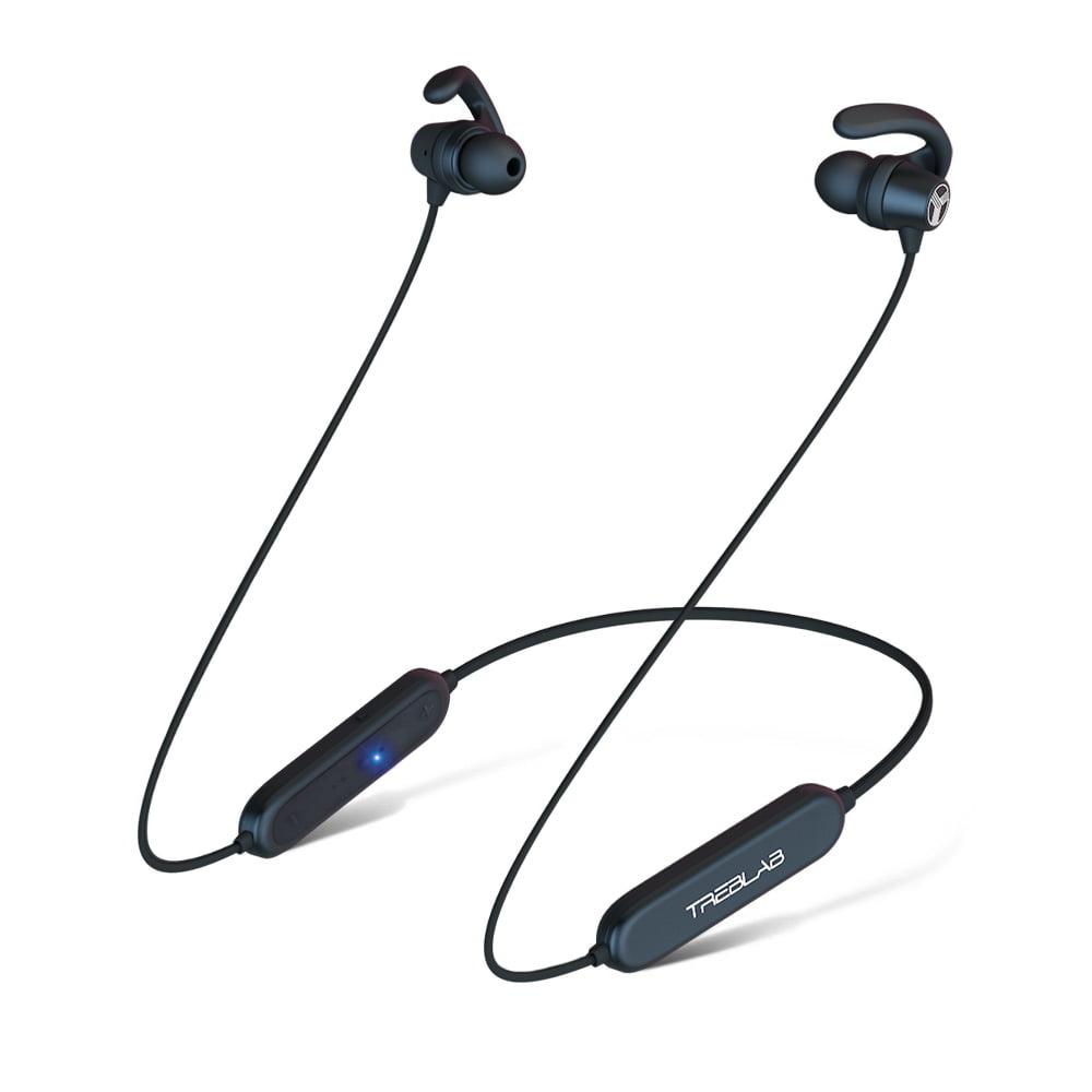 TREBLAB N8 Sports Bluetooth Neckband Headphones. Lightweight In-Ear Wireless Earbuds, Magnetic Secure-Fit IPX5 Waterproof Sweatproof Earphones For Gym Running Workout Noise Cancelling Headset w/Mic