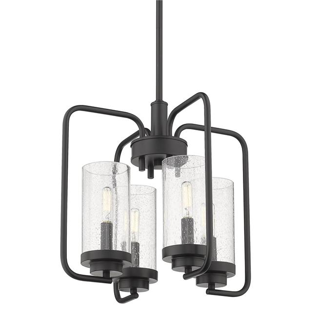 Golden Lighting 2380-4 BLK-SD Holden 4-Light Chandelier, Black - image 1 of 1