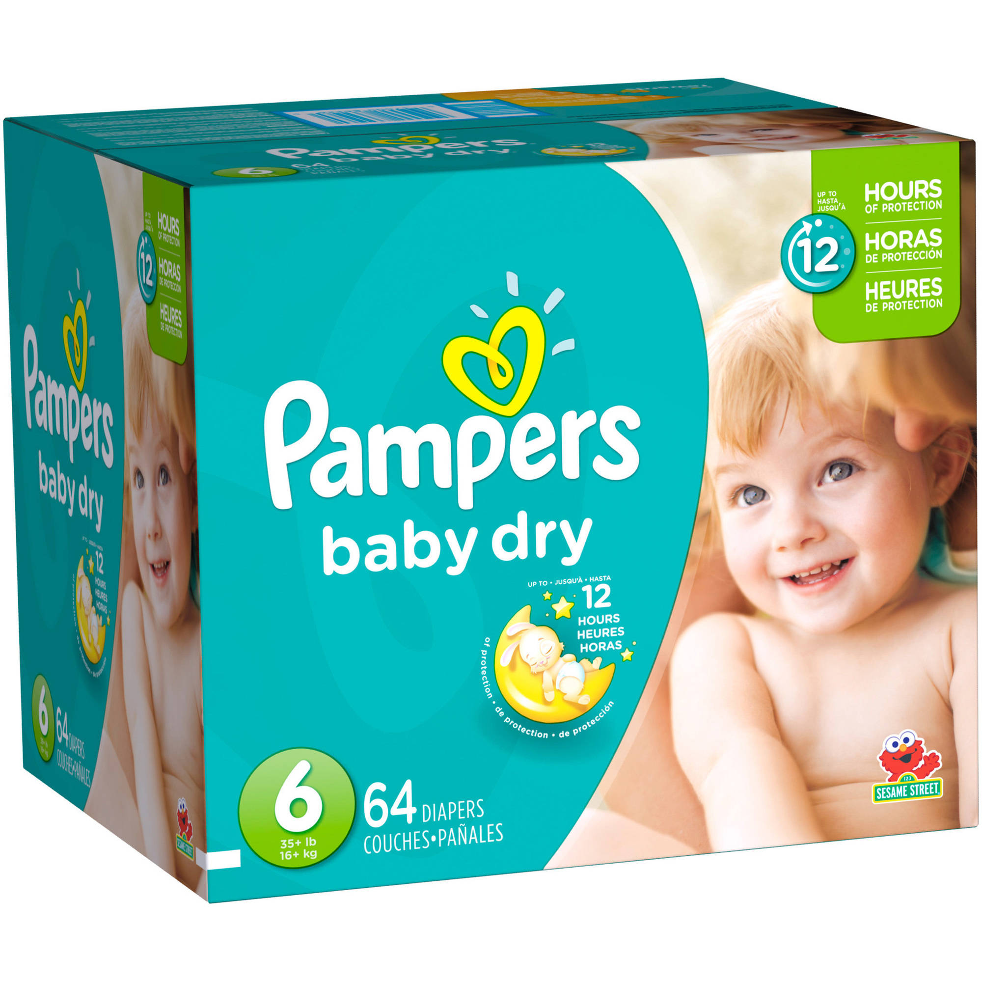 Pampers Baby Dry Diapers, Size 6 (Choose Diaper Count)