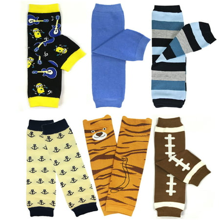 Wrapables® Baby & Toddler Boys Set of 6 Assorted Leg Warmers, BS01