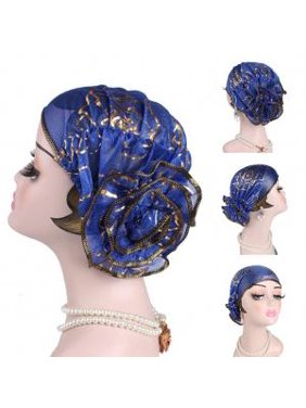 Fancyleo Newly Design Lady Fashion Ruffle Lace Head Wrap Women Muslim Turban Headscarf Hat Hijab
