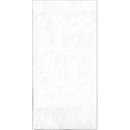 50 Plain Solid Colors Dinner Hand Towel Napkins Paper - White