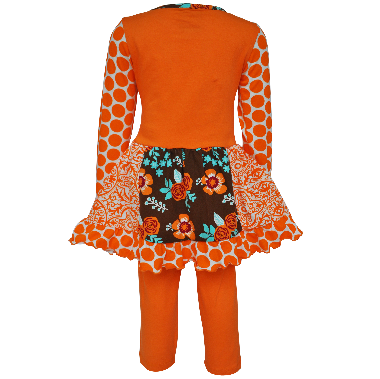 Annloren Annloren Girls Boutique Foxy Floral Dress And Legging