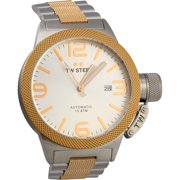 Canteen Collection Men's Silver & Rose Gold Automatic Watch CB125