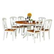 Valleyview Dining Set-Finish:Oak/White,Quantity:7 Piece