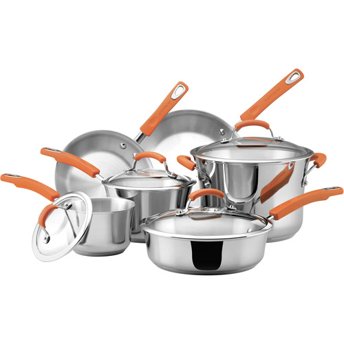 Rachael Ray 10-Piece Stainless Steel Cookware Set