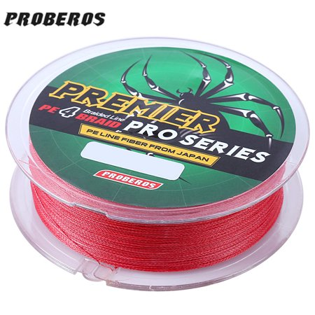 100M Mixed Color PE Monofilament Fishing Line Strong 4 Strands Braided Wire (Fishing Knots For Braided Line To Monofilament)