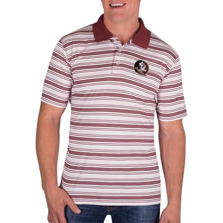 Maroon Striped Performance Polo - NCAA Florida State Seminoles Men's Classic-Fit Striped Polo Shirt
