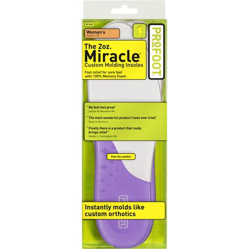 Profoot Women's Sizes 6-10 Miracle Custom Molding Insoles, 1 pr
