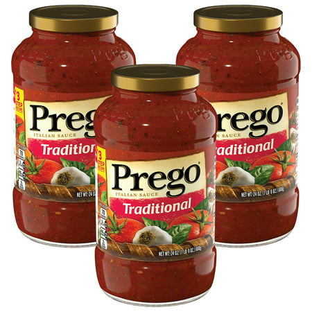 (3 Pack) Prego Pasta Sauce, Traditional, 24 oz. Jar Artichoke Heart Pasta Sauce