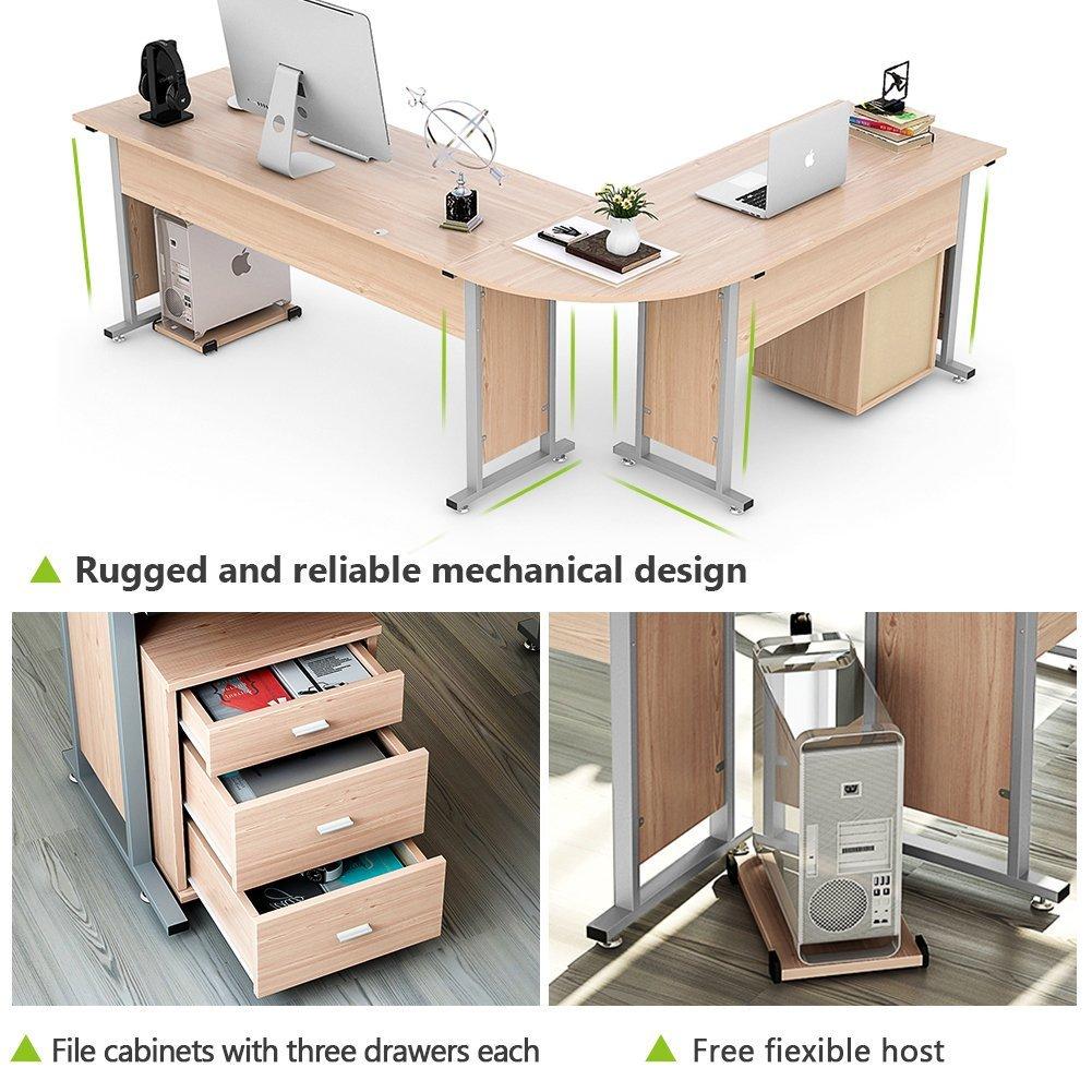 Tribesigns Large Modern L Shaped Desk