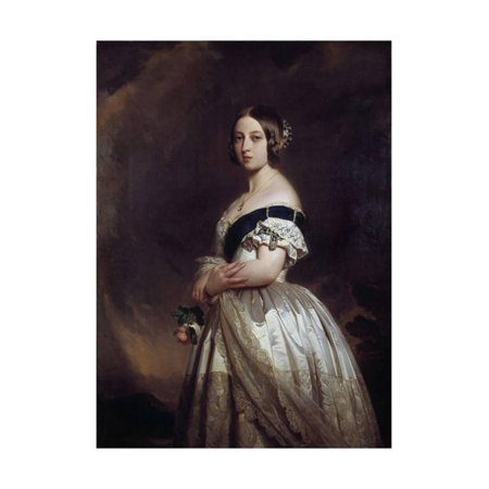 Portrait of the Queen Victoria I by Franz Xavier Winterhalter Print Wall Art