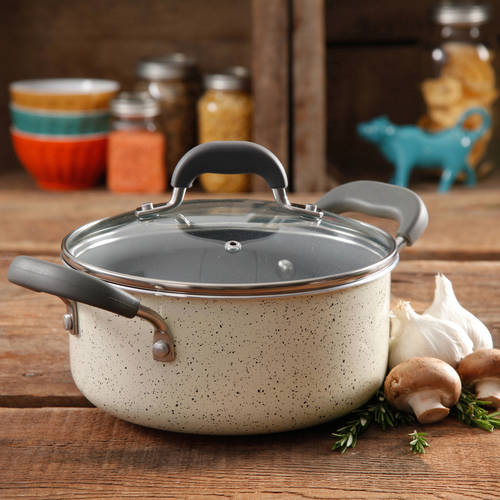 The Pioneer Woman Vintage Speckle 3-Quart Soup/Chili Casserole with Lid