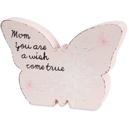 Pavilion - Mom You are a Wish Come True Pink Butterfly Plaque 5