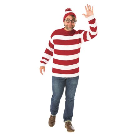 Where's Waldo Plus Size Adult Halloween Costume - Toddler Waldo Costume