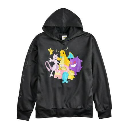Pikachu Hoodie For Men (Pokemon Big Boys Black Pikachu Dragonite & Friends Pullover Hoodie)