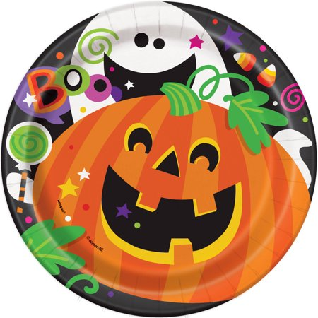 Happy Halloween Paper Plates, 7 in, 8ct - Happy Halloween Gaming