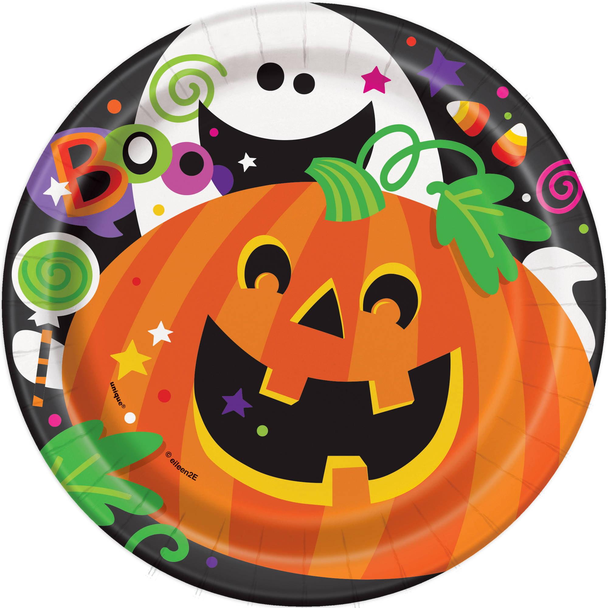 Happy Halloween Paper Plates, 7 in, 8ct