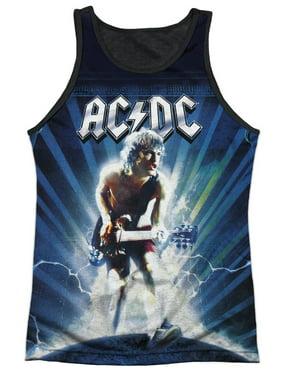 55200cb6144ebd Product Image AC DC Music Group Angus Young   Lightning Adult Black Back Tank  Top Shirt