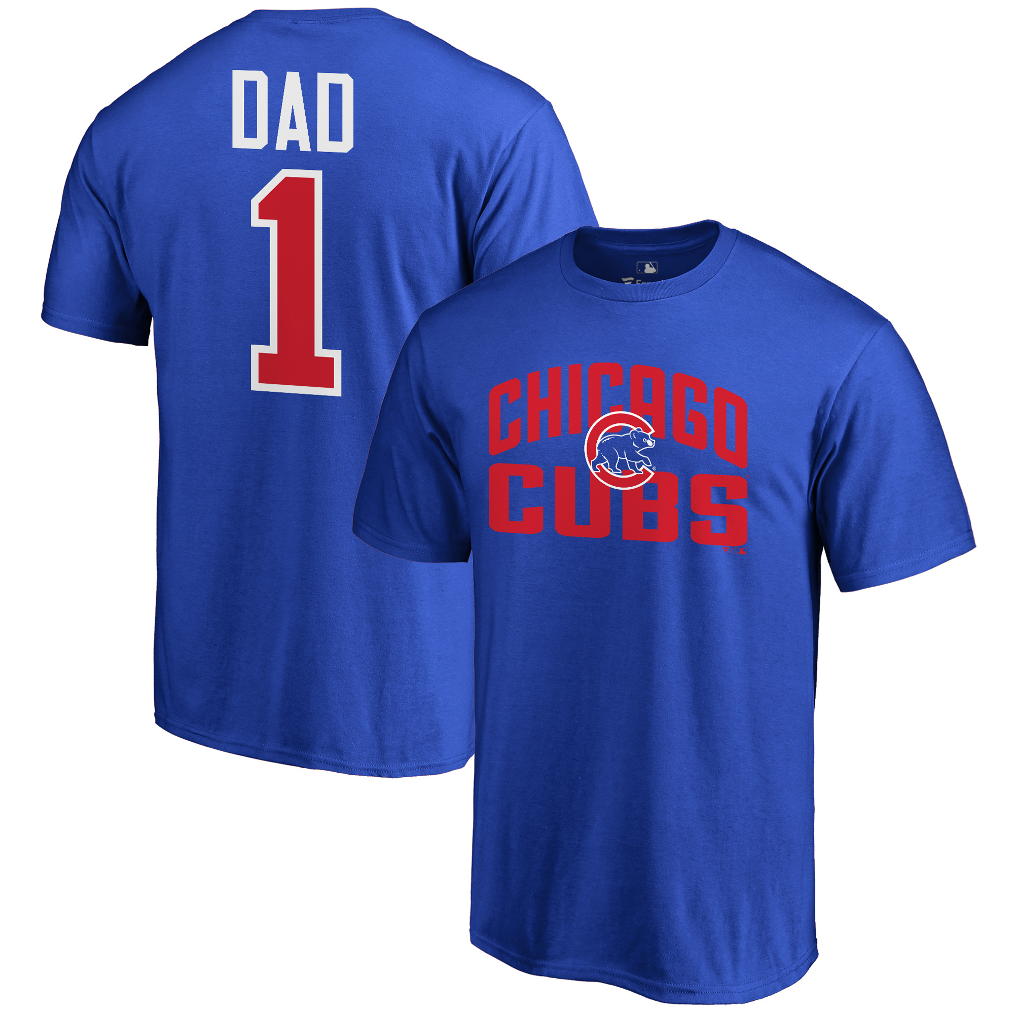 Chicago Cubs Fanatics Branded 2018 Father's Day Number 1 Dad T-Shirt - Royal