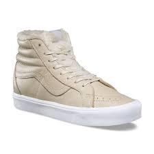 Vans Sk8 Hi White - Vans SK8 Hi Lite Reissue Sherpa Cement/True White Men's Shoes Size 12