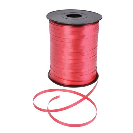 500 Yard Roll Shiny Red Balloon Present Wrapping Curling - Present Ribbon