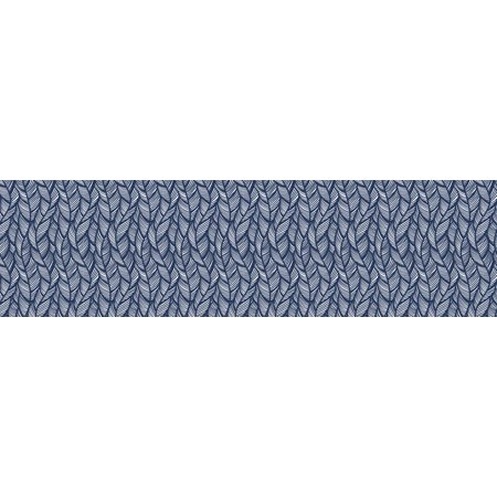 You-Nique Navy Feather Straight Borders](Painted Feather)