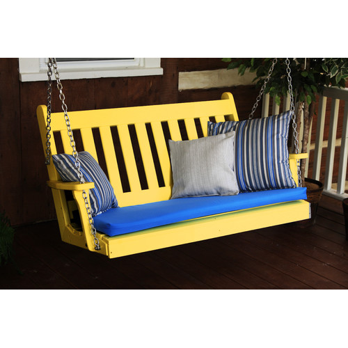 A & L Furniture Traditional English Recycled Plastic 4 ft. Porch Swing