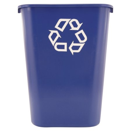 Rubbermaid Commercial Products FG295773BLUE Deskside Recycling Container, 10 Gallon/41 QT, Blue ()