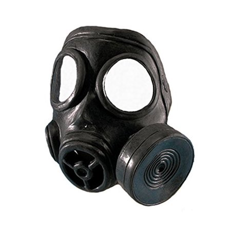 Adult Rubber Gas Mask w/ Elastic Band Retro Costume Accessory - Gas Mask Costume