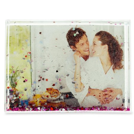 Sparkly Heart (Sparkly Hearts Water Globe Picture Frame 5.4 Inches x 7.5 Inches)