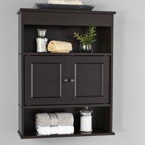 Mainstays Bathroom Storage Wall Cabinet, Espresso