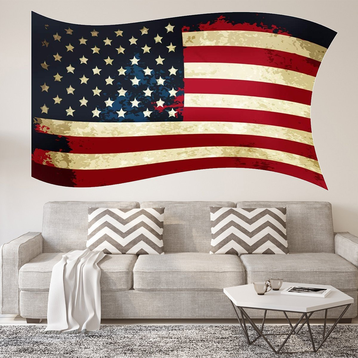 Flag Wall Decal Americana Stickers
