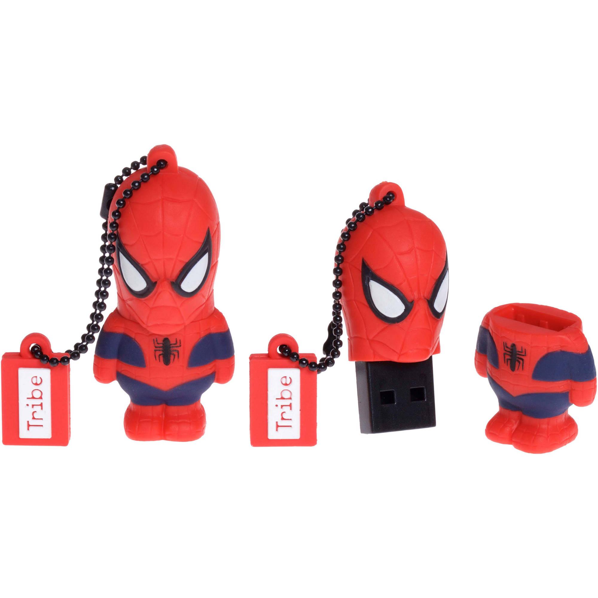tribe usb flash drive 16gb marvel spiderman collectible