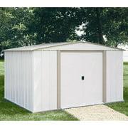 Arrow Salem Economy Steel Shed, 10x8 w/ Bonus Foundation Kit