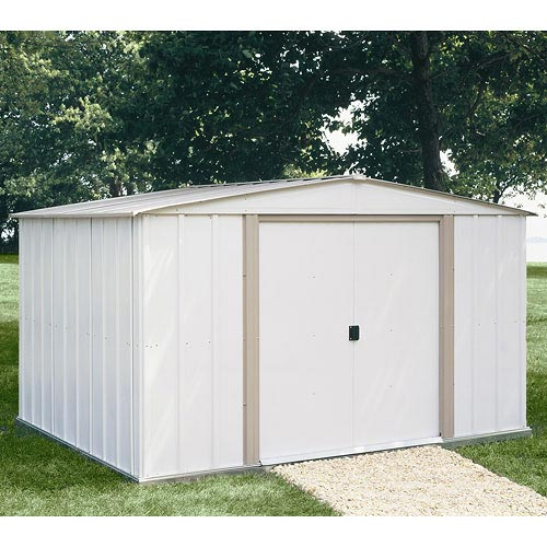 Arrow Salem Economy Steel Shed, 10x8 w/ Bonus Foundation Kit