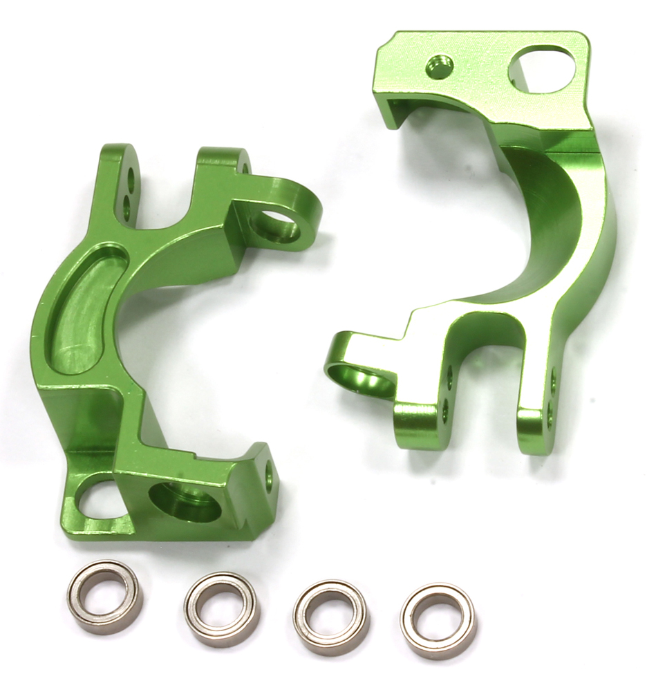Integy RC Toy Model Hop-ups T8551GREEN Billet Machined Caster Block (2) for Traxxas 1 10... by Integy