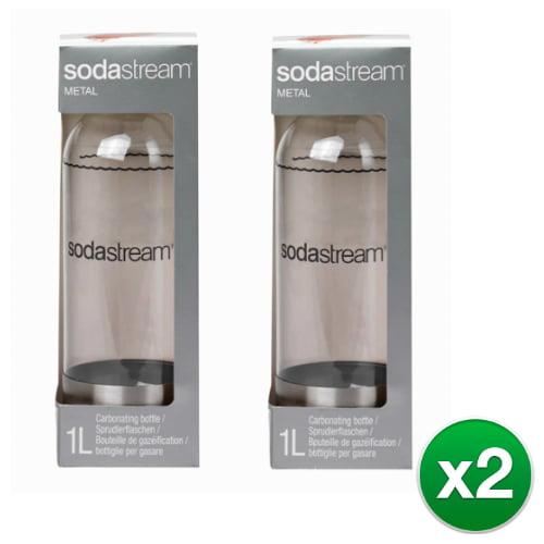 Sodastream 1 Liter Metal Source Carbonating Bottle - Stainless Steel (4 Pack) Sodastream 1L Metal Source Carbonating Bottle