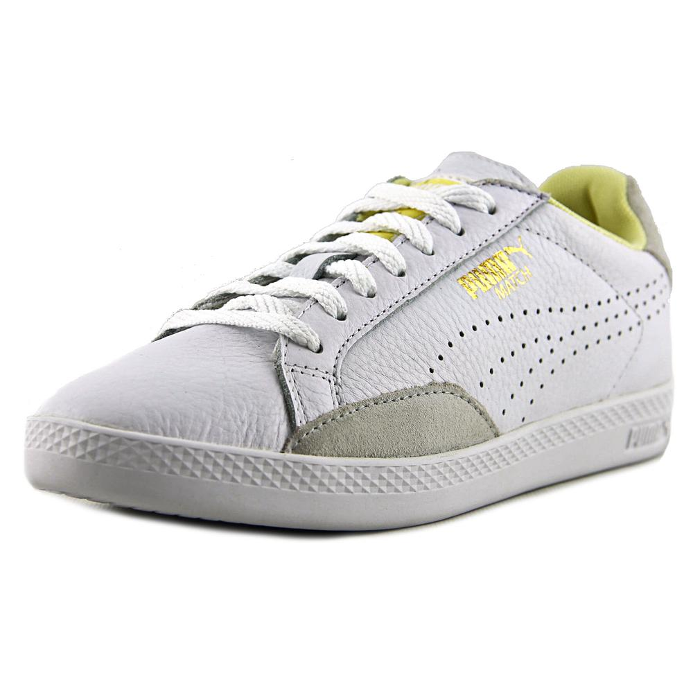 Puma Match Lo Basic Sports Women  Round Toe Leather White Sneakers