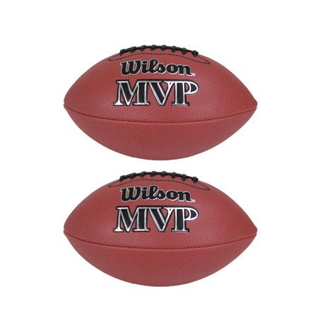 Wilson Mvp Junior Size Leather Composite American Sport Football Ball  2 Pack