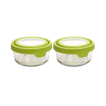 Anchor Hocking 1 Cup TrueSeal Food Storage Containers with Airtight Lids, Green, 2