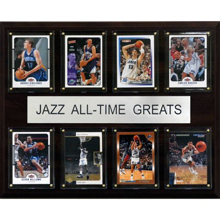 C Collectables Nba 12X15 Utah Jazz All Time Greats Plaque